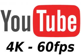 YouTube en 4K y 60FPS