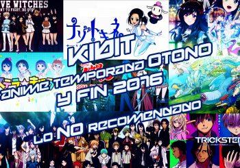 Anime Temporada Otoño y Fin 2016: NO recomendado