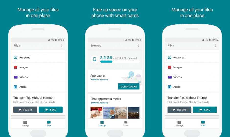 Files Go la nueva APP para gestión de archivos y liberador de espacio